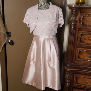 Cream cocktail party Dress